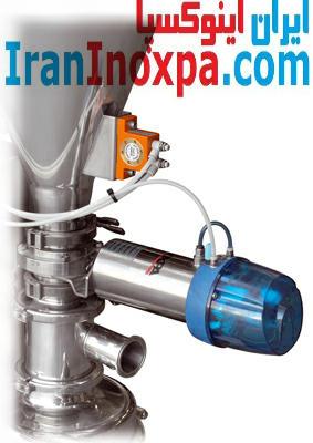تصویر اکچوییتر پنوماتیکی و شیر قیف مخلوطکن های M-226 و M-440 اینوکسپا inoxpa