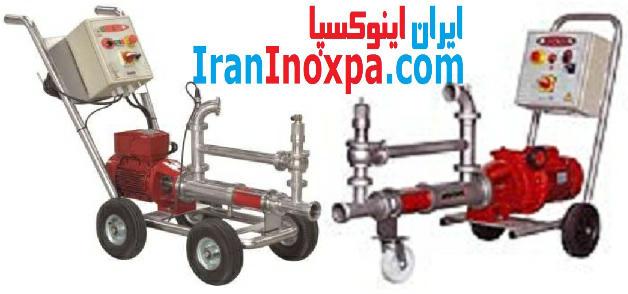 چرخ دستی های سه و چهار چرخ مونو پمپ بهداشتی متحرک KSF اینوکسپا inoxpa